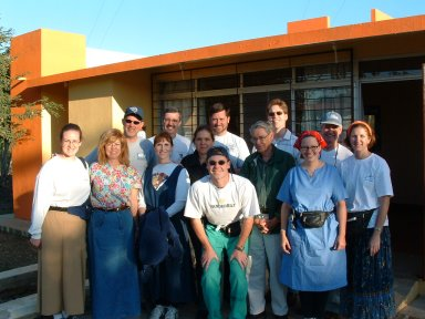 Medical Team in front of clinic in the village of Tres Piedras